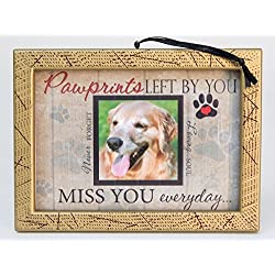 Pawprints Left By You Memorial Gold 2 x 2 Inch Photo Frame Ornament