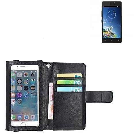 K-S-Trade® Für Kazam Tornado 348 Schutz Hülle Case Mit Displayschutz/Schutzfolie Flip Cover Wallet Case Etui Hülle Für Kazam