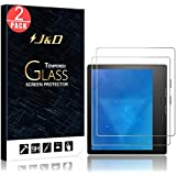 [2-Pack] New Kindle Oasis 2017 Screen Protector, J&D Glass Screen Protector [Tempered Glass] HD Clear Ballistic Glass Screen Protector for All-New Kindle Oasis E-Reader (9th Generation, 2017 Release)