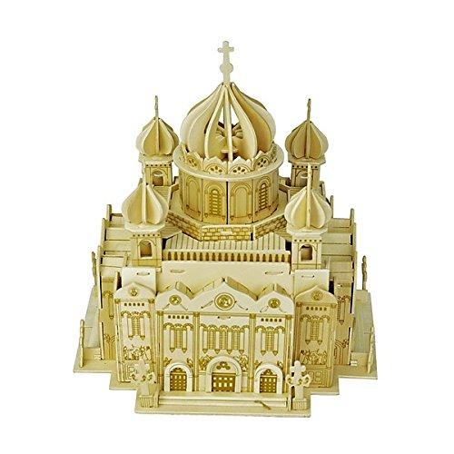 3D Puzzle in Wooden, Puzzle en Madera, Woodcraft Kit de Construcción-Catedral de Cristo El Salvador, Cathedral of Christ The Saviour, Toy, El Mejor Regalo del Niño