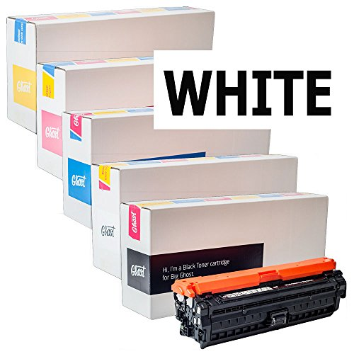 (Ghost White Individual Toner Cartridges for HP Color LaserJet CP5225dn Printer)