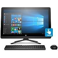 "HP 24-g219 Intel J3710 Quad-Core 8GB 1TB HDD 23.8"" Full HD Touchscreen AIO PC (Certified Refurbished)"