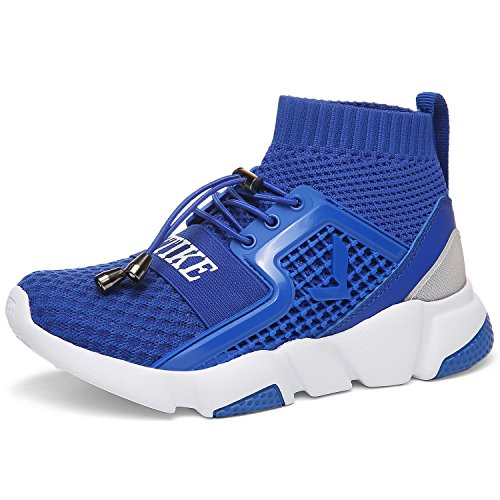 VITIKE Boy's Girl's Lightweight Breathable Sneakers Strap Athletic Running Shoes (Best Jordan Shoe Stores)