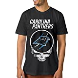 Show Time Men's Carolina Panther Short Sleeve Classic T-shirt Black