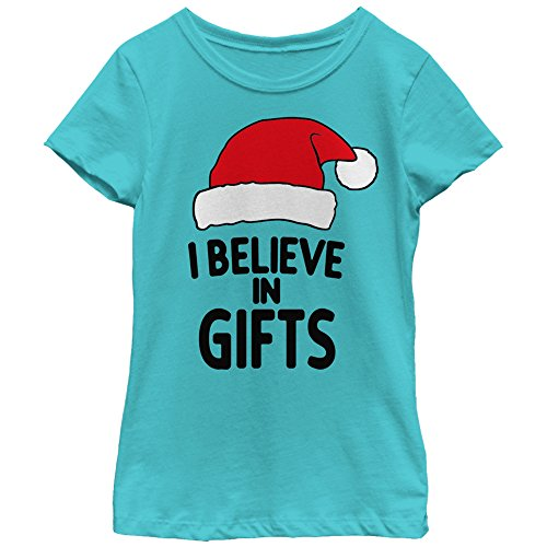 Lost Gods Girls' Christmas Believe in Gifts Tahiti Blue T-Shirt by Lost Gods