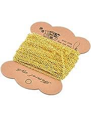 PandaHall Cadena de hierro, 10m, para manualidades de joyería, color dorado, Golden, 3x2.2x0.6mm