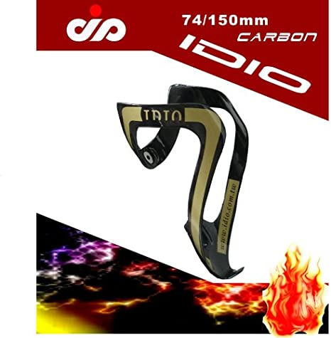IDIO UD Carbon Water Bottle Cage Black White 74mm 2pc
