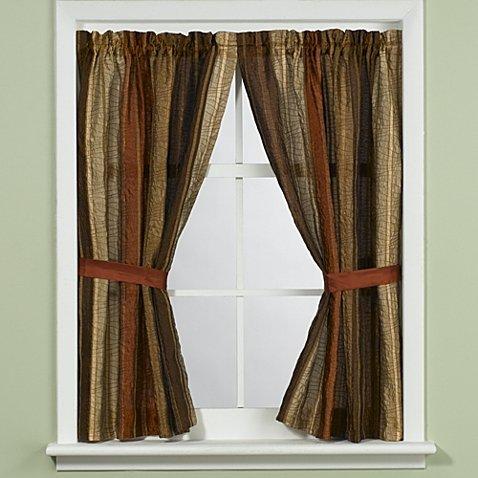 Manor Hill Sierra Copper Bathroom Window Curtain Panel Pair 36'' W x 45'' L