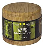 : Totally Bamboo Salt Box, Natural Bamboo Container With Magnetic Lid + Secure Durable Storage & Organization - Seasonings, Spices,  Herbs or Small Items - Jewelry / Office, ect..