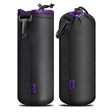 Camera Lens Case, Venoro X-Large 5mm Thick Protective Neoprene Pouch Bag for DSLR Camera Lens (Canon, Nikon, Pentax, Sony, Olympus, Panasonic, etc) (X-Large)