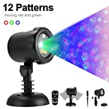 Bellar outdoor laser christmas light,Moving 12 Pattern Laser Lights Projector