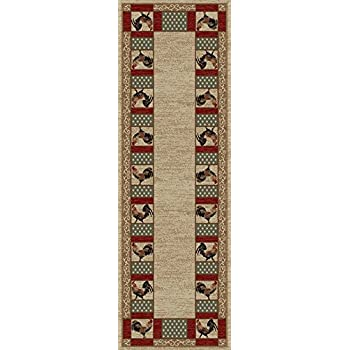 Amazon Com Rug Empire Rustic Lodge Rooster Area Rug