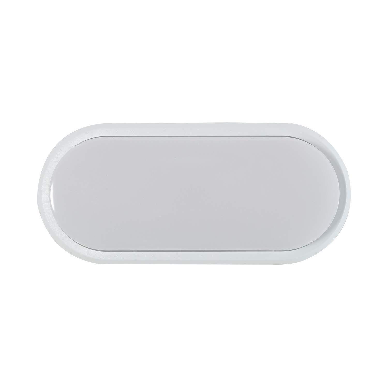 Plafonnier LED Ovale Hublot 12W White Blanc Neutre 4000K LEDKIA