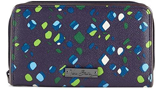Gorgeous Vera Bradley BB Collection Accordion Wallet Zip Around in Ink -
