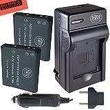 nikon coolpix s3100 battery - BM Premium 2-PACK of EN-EL19, ENEL19 Battery and Charger Kit for Nikon Coolpix S32, S33, S100, S3100, S3200, S3300, S3500, S3600, S3700, S4100, S4200, S4300, S5200, S5300, S6400, S6500, S6800, S6900, S7000 Digital Camera