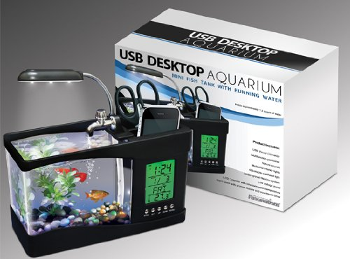 USB Desktop Aquarium LED Clock and Timer