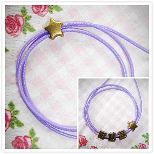 - s periphery Lan Matsumoto retro letters pentagram serpentine rope Bracelet