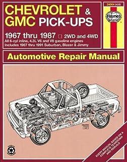 Chevrolet gmc pick ups automotive repair manual models covered chevrolet gmc pick ups 1967 thru 1987 haynes repair manual fandeluxe Choice Image