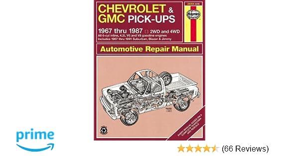 Chevrolet gmc pick ups 1967 thru 1987 haynes repair manual chevrolet gmc pick ups 1967 thru 1987 haynes repair manual haynes 9781850107644 amazon books fandeluxe Images