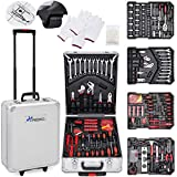 TRESKO Tool Box with 949 Pcs Hand Tools Trolley Mechanic Household Toolbox Kit Set Case Cart on Casters Wheels