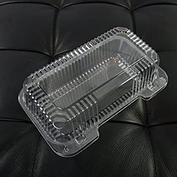 Amazon Com Dart Solo Small Clear Plastic Hinged Food Container For