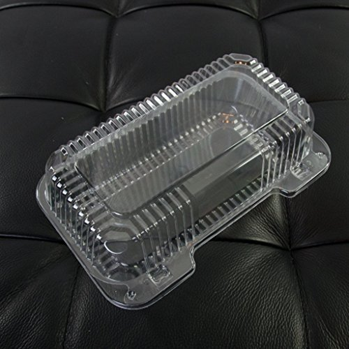- Dart Clear Hinged Lid Plastic Container 9 x 5 3/8 x 3 1/2 (Pack of 50)
