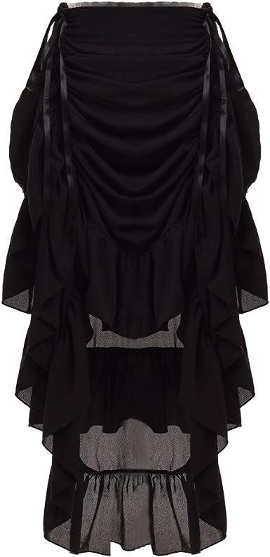 GRACEART Mujeres Victoriano Steampunk Falda Negro (Small): Amazon ...