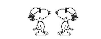 2x Snoopy Cool Dog Aufkleber Sticker Autocollants Pegatinas
