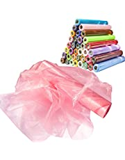 Time to Sparkle 1/2/3/4/5 Rolls 29cm X26M Organza Roll Sash Fabric Chair Cover Bows Table Runner Chair Sashes Swags for Wedding Party