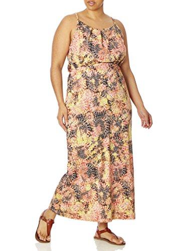 Love Collection Junior Womens Maxi Dress – Kaleidoscope Print, Cinched Waist