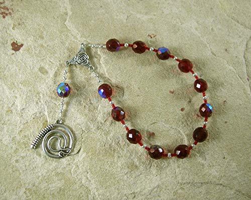 Nemesis Pocket Prayer Beads: Greek Goddess of Vengeance and Retribution, Punisher of Those who have Evaded - Beads Goddess Prayer