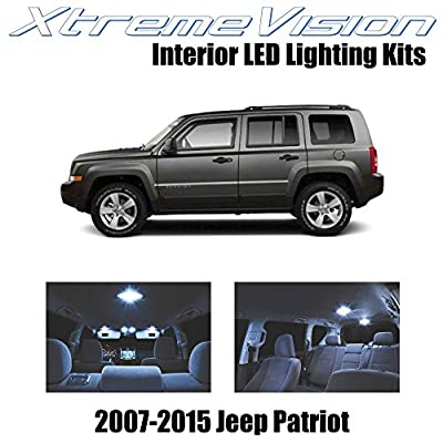 Xtremevision Interior LED for Jeep Patriot 2007-2015 (6 Pieces) Cool White Interior LED Kit + Installation Tool: Automotive