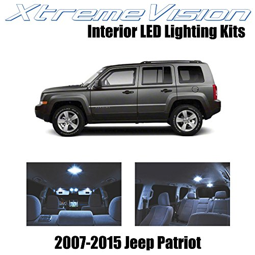 XtremeVision Interior LED for Jeep Patriot 2007-2015 (6 Pieces) Cool White Interior LED Kit + Installation ()