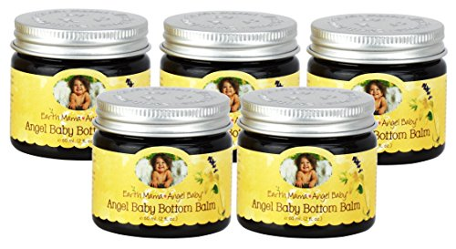 Earth Mama Angel Baby Angel Baby Bottom Balm, New Value Pack Size Five of the 2-Ounce Jar