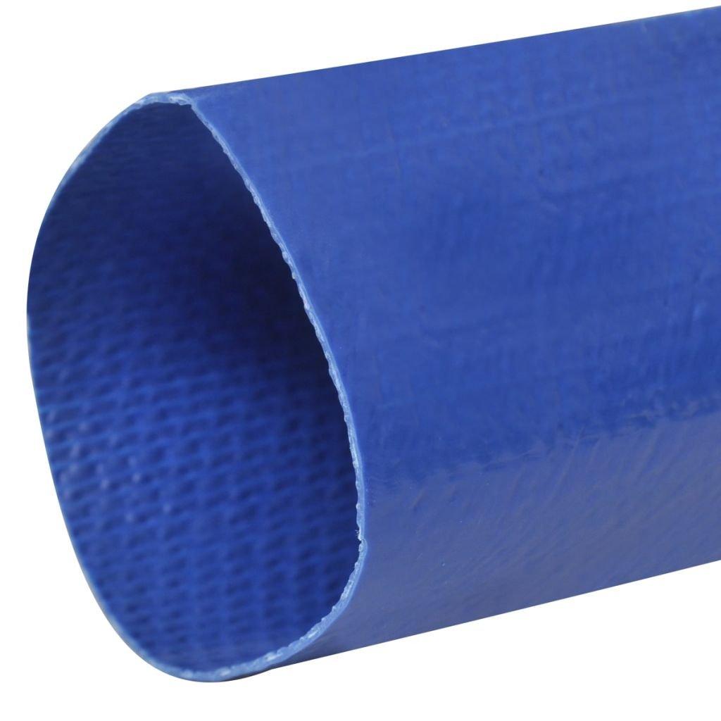 vidaXL Manguera Plana de Agua 25 m 50 mm Poliester PVC Azul Goma de Incendios