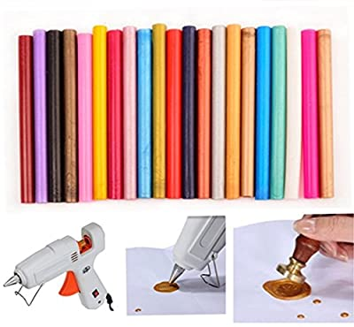 12pcs Colorful Choose Your Colors Vintage Glue Gun Sealing Wax Sticks For Wax Seal Sealing Stamp Art Wedding Invitations Gift Cards