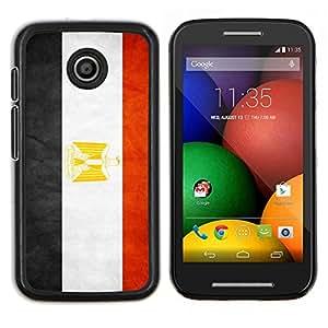 TECHCASE---Cubierta de la caja de protección para la piel dura ** Motorola Moto E ( 1st Generation ) ** --Nacional bandera de la nación País Egipto