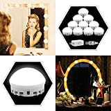 Punming LED Vanity Mirror Lights Kit,2018 New Version Hollywood Style Mirror Light with Dimmable 5 Levels Brightness Adjustable for Makeup Dressing Table with USB Power Adapter(Mirror not Included)
