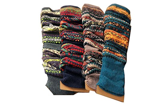 Lucky staryuan Women Set of 3 Wool Knit Leg Warmer Boot Warmer style 1