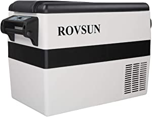ROVSUN Car Refrigerator, 44 Quart, 12V 110 V, -4°F to 50°F Portable Freezer for Auto, RV, Truck, Camping, Travelling, Home, Compressor Cooler, Anti-Shock and Battery Protective (44 Quart)