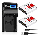OAproda 2 Pack NP-BG1 Battery and Smart LCD Display USB Charger for Sony Cyber-shot NP-FG1, DSC-W220, DSC-W30, DSC-W35, DSC-W50, DSC-W80, DSC-H55, DSC-H3, DSC-H10, DSC-H20, DSC-H50, DSC-HX7V, DSC-HX9V