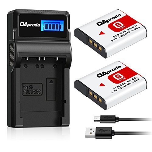 OAproda 2 Pack NP-BG1 Battery and Smart LCD Display USB C...