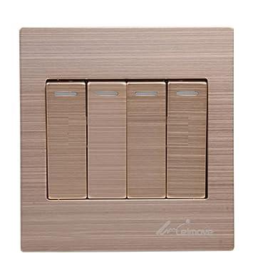 leimove iluminación leimove Interruptor Socket Panel cuatro abierto doble interruptor de control panel de dibujo de