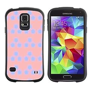 ArtSpace Premium Hybrid Back Case Cover Samsung Galaxy S5 V SM-G900 ( Cute Pentagon )