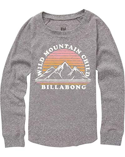 (Billabong Girls' Big Wild Moutain Child Long Sleeve Tee, Dark Athletic Grey, S)