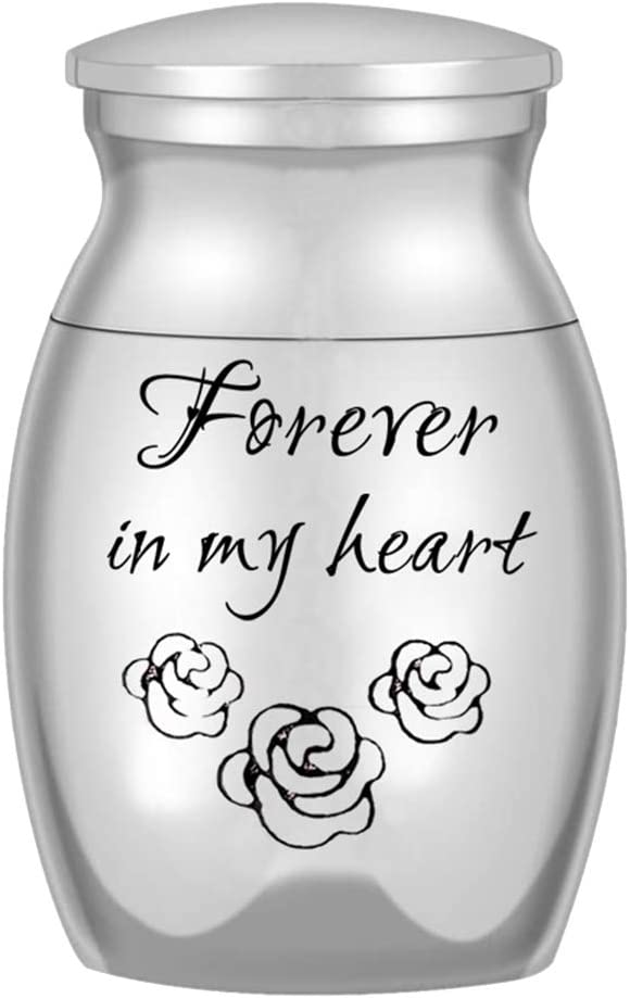 gerFogoo DaiWeiPeng1991 Small Keepsake Urn for Ashes Mini Cremation Urns for Ashes Portable Stainless Steel Memorial Ashes Holder Silver14