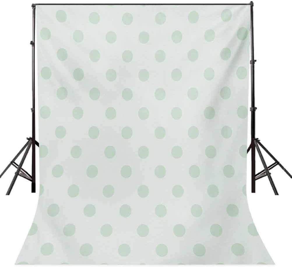 Mint 10x12 FT Photo Backdrops,Retro Polka Dots Pattern Old Fashion Classic Spots Cute Circles Nostalgic Artwork Background for Child Baby Shower Photo Vinyl Studio Prop Photobooth Photoshoot