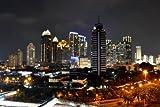 JAKARTA INDONESIA NIGHT SKYLINE GLOSSY POSTER PICTURE PHOTO BANNER java
