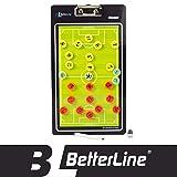 BETTERLINE Better Line - Tabla de Entrenamiento magnética de Doble Cara con borrado en seco (Elige Baloncesto, fútbol, Voleibol o Balonmano), Incluye imanes y Marcador