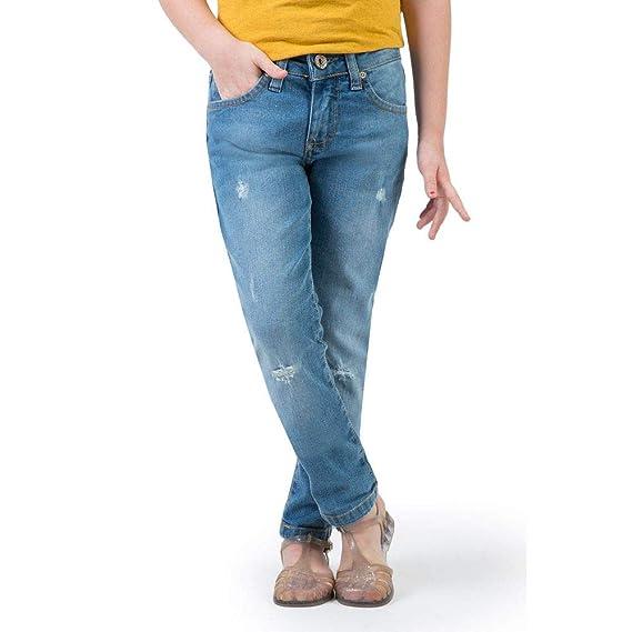 5f9f2ed04 Calça Jeans Reta Infantil Feminino Super Stone Super Stone 06 ...